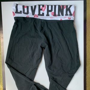 Pink by Victoria Secret Black Leggings